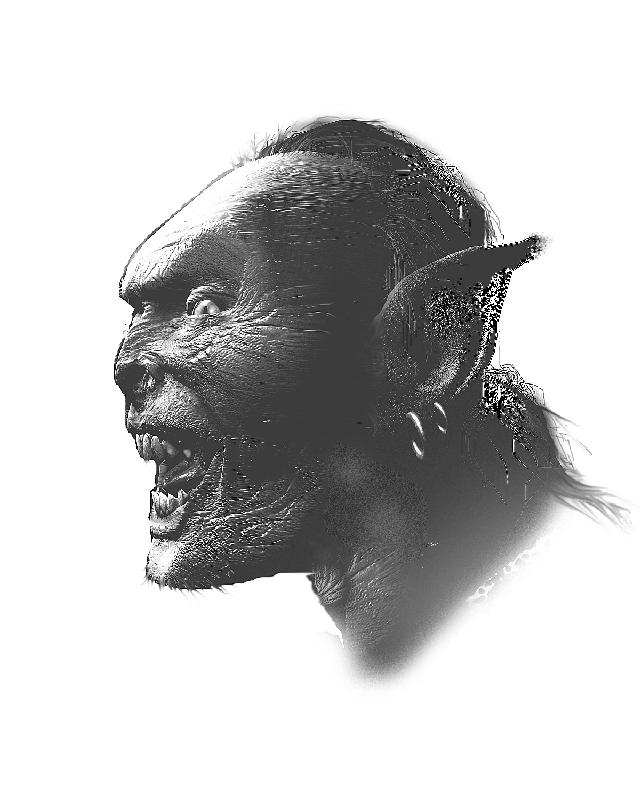 Orc - Black and White