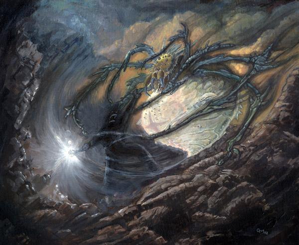 P.O Tolkien y su obra. MorgothAndUngoliant600