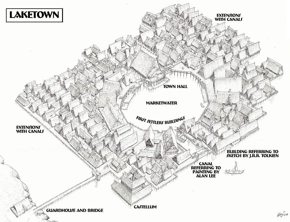 Maps of tolkiens universe laketown overview publicscrutiny Images